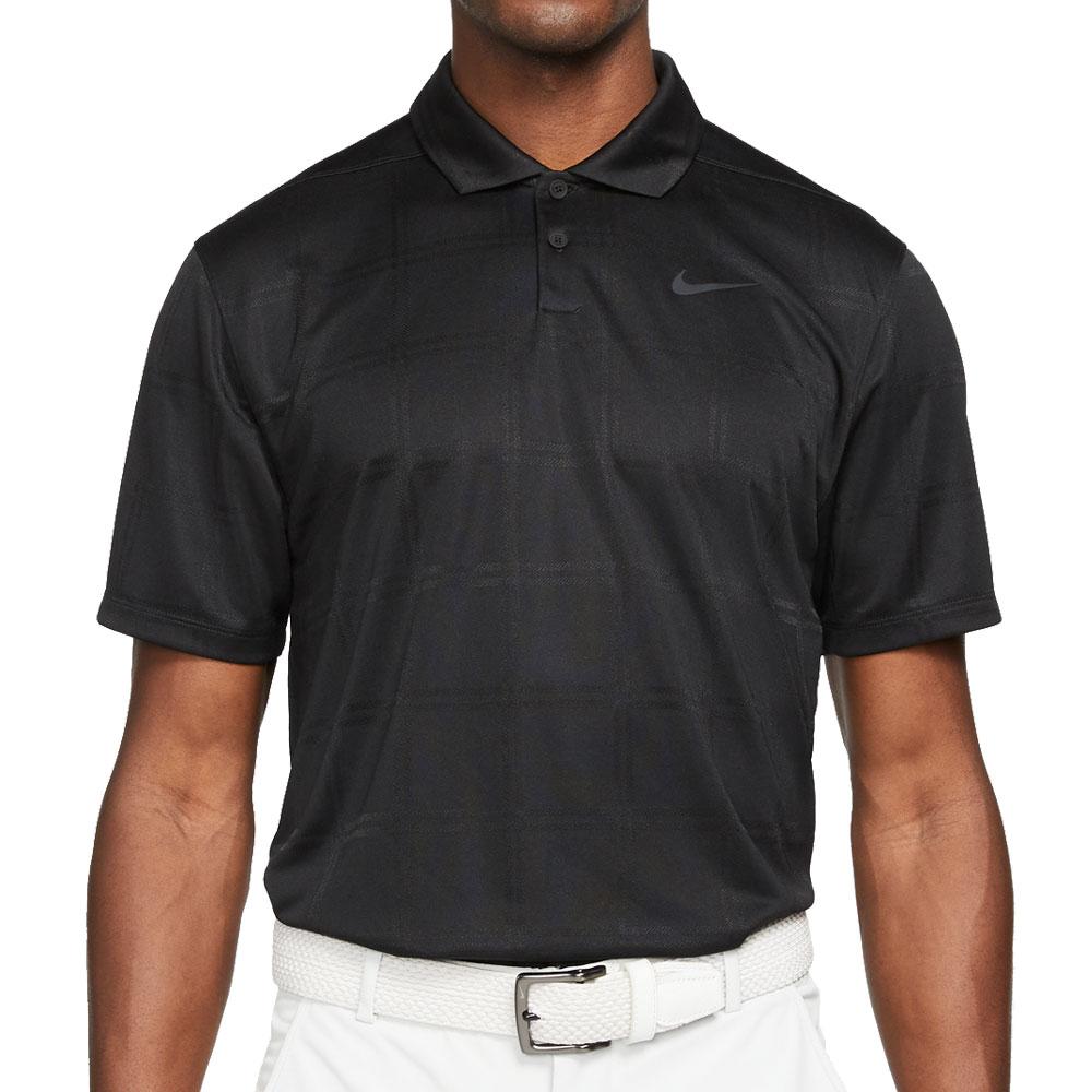 Nike Golf Dri-Fit Vapor Texture Polo Shirt  - Black