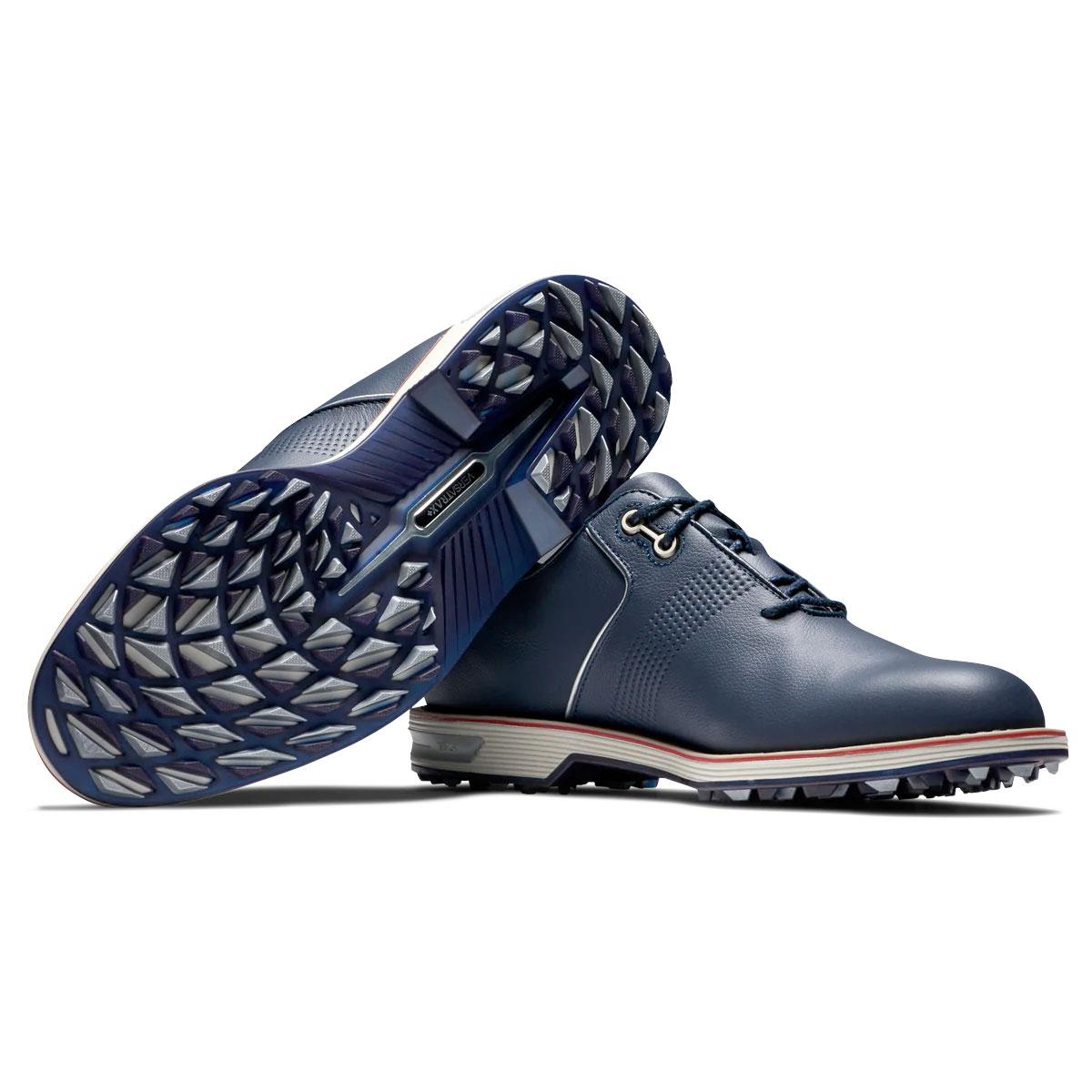 FootJoy Dryjoys Premiere Series Flint Mens Spikeless Golf Shoes  - Navy/Red