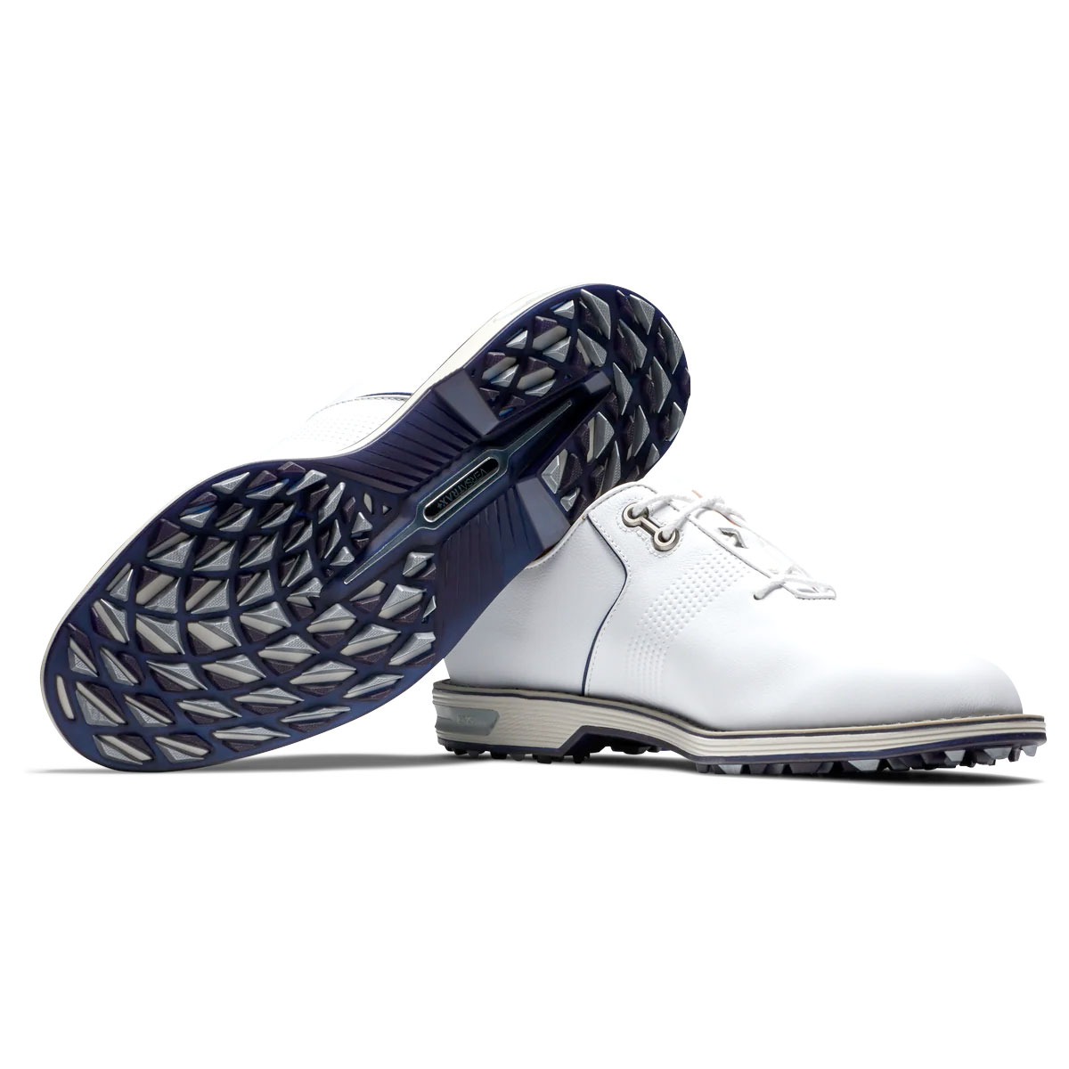 FootJoy Dryjoys Premiere Series Flint Mens Spikeless Golf Shoes  - White/Navy