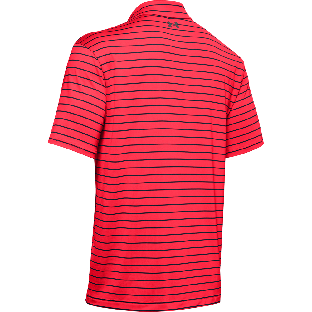 Under Armour Mens Tour Stripe PlayOff Golf Polo Shirt  - Beta/Academy