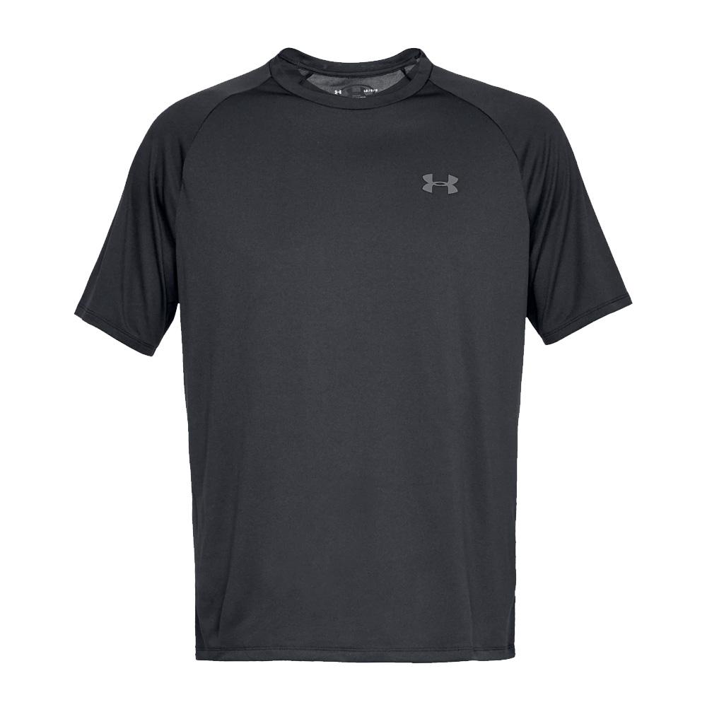 Under Armour Mens Sports Gym T-Shirt   - Black