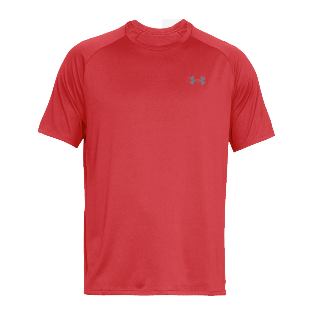 Under Armour Mens Sports Gym T-Shirt   - Red