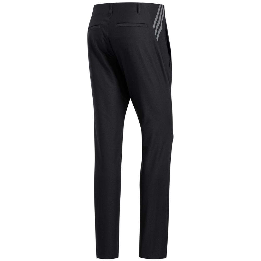 adidas Ultimate 365 3-Stripes Tapered Mens Golf Trousers  - Black