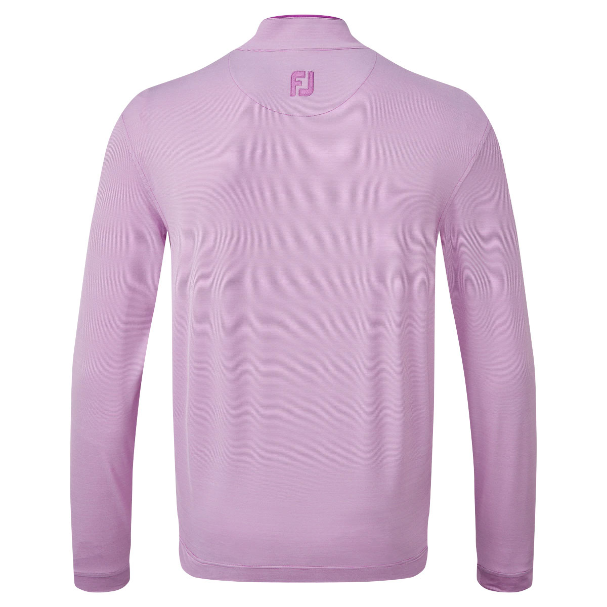 FootJoy Lightweight Microstripe Chill-Out Mens Golf Pullover  - Mulberry/White