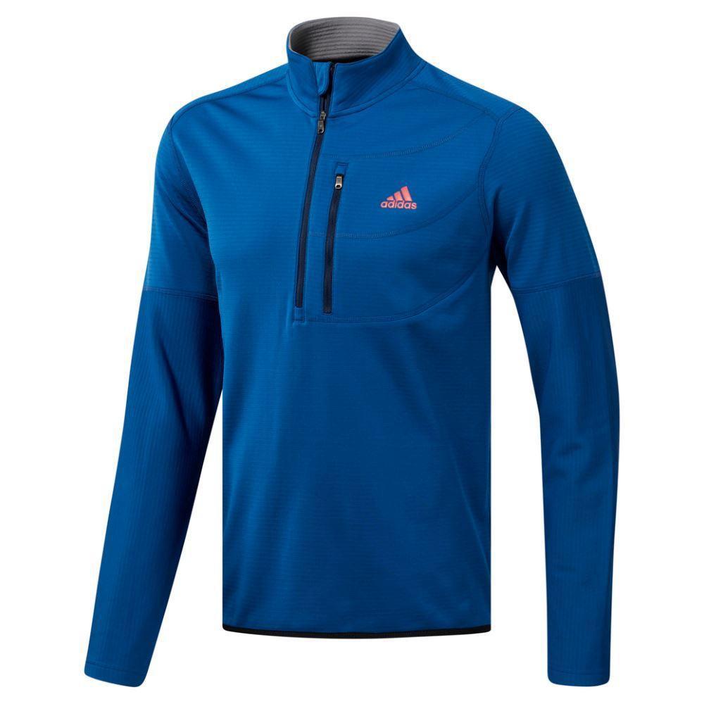 adidas Golf Climawarm Gridded 1/4 Zip Mens Sweater  - Dark Marine