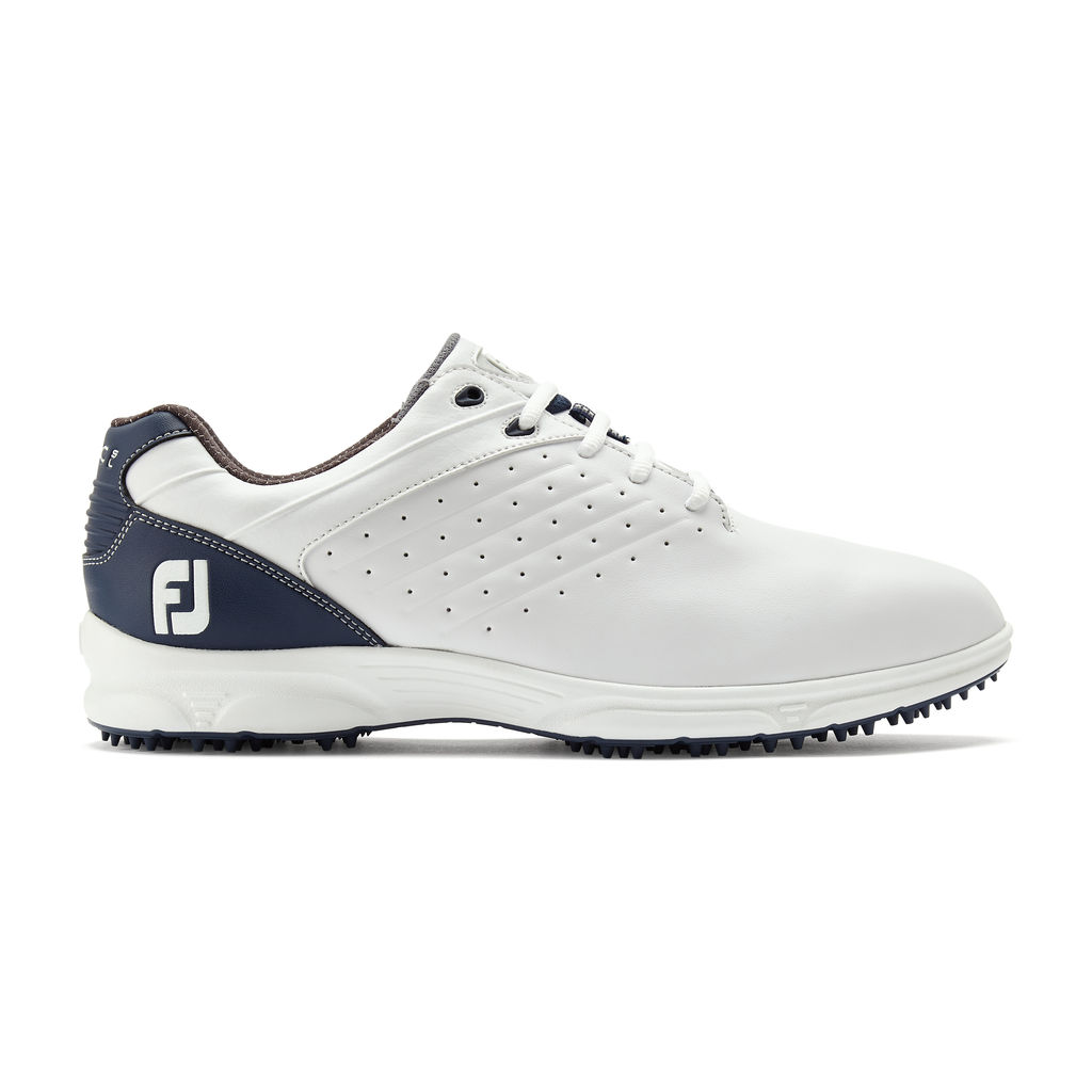 FootJoy Arc SL Spikeless Leather Mens Golf Shoes  - White/Navy