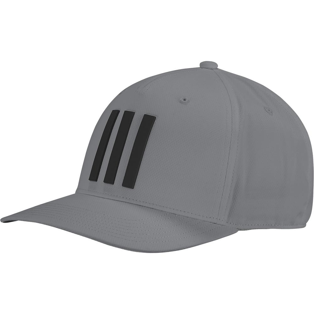 adidas Golf Mens Tour Hat 3-Stripes Baseball Cap  - Grey Three