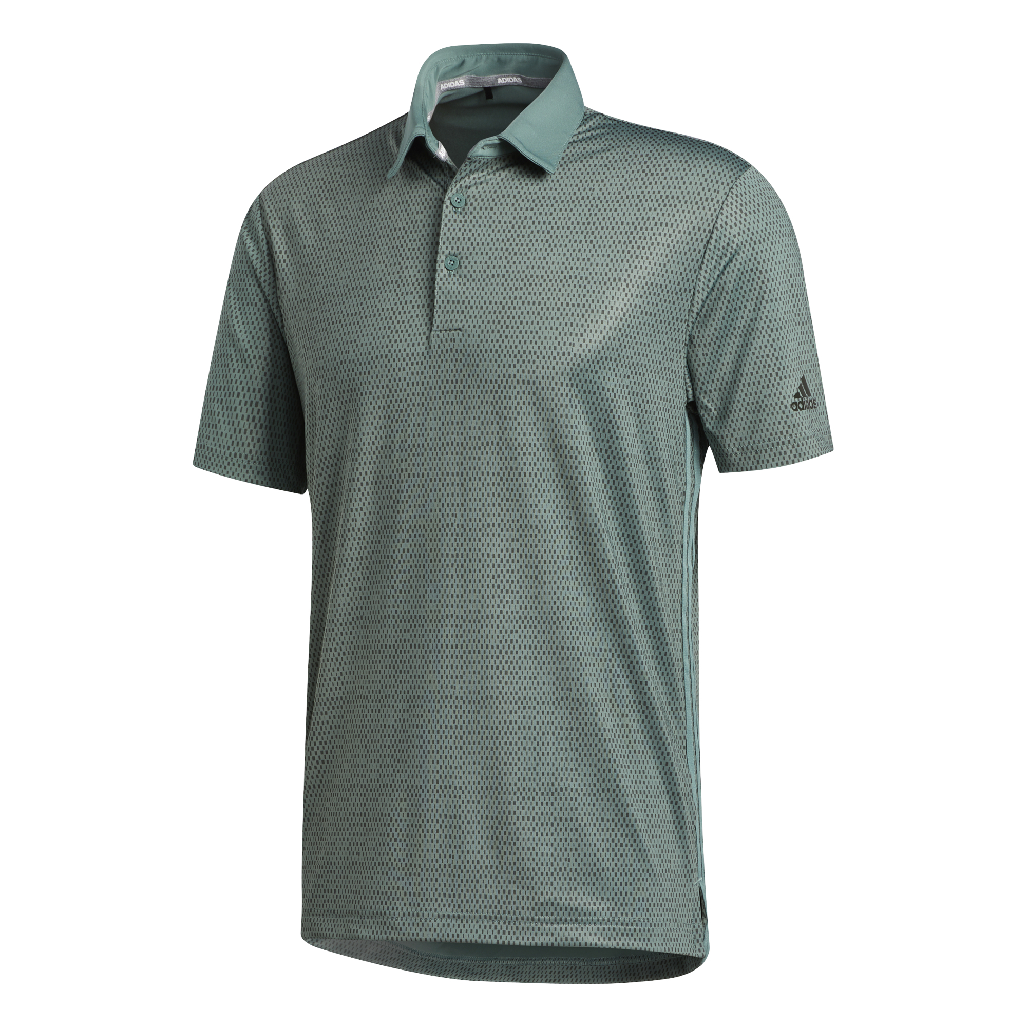 adidas Golf Mens Ultimate365 Polo Shirt  - Tech Emerald / Legend Earth