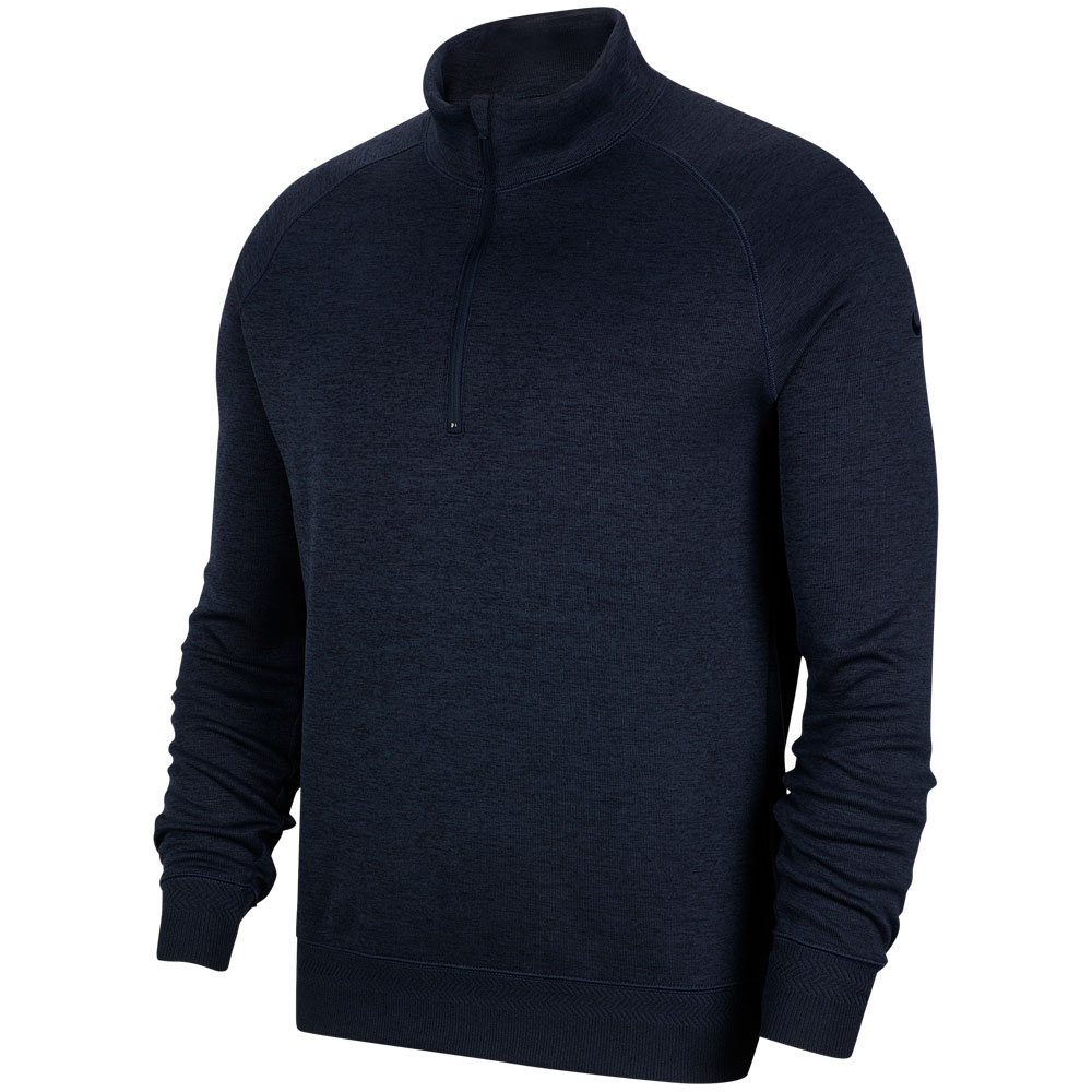 Nike Dry-Fit Player 1/2 Zip Golf Sweater  - Obsidian