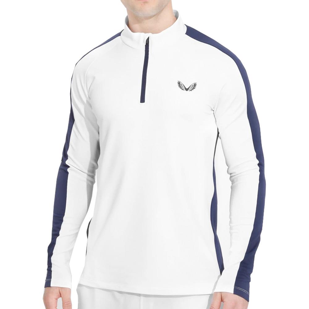 Castore Jersey 1/4 Zip Mens Golf Pullover  - White