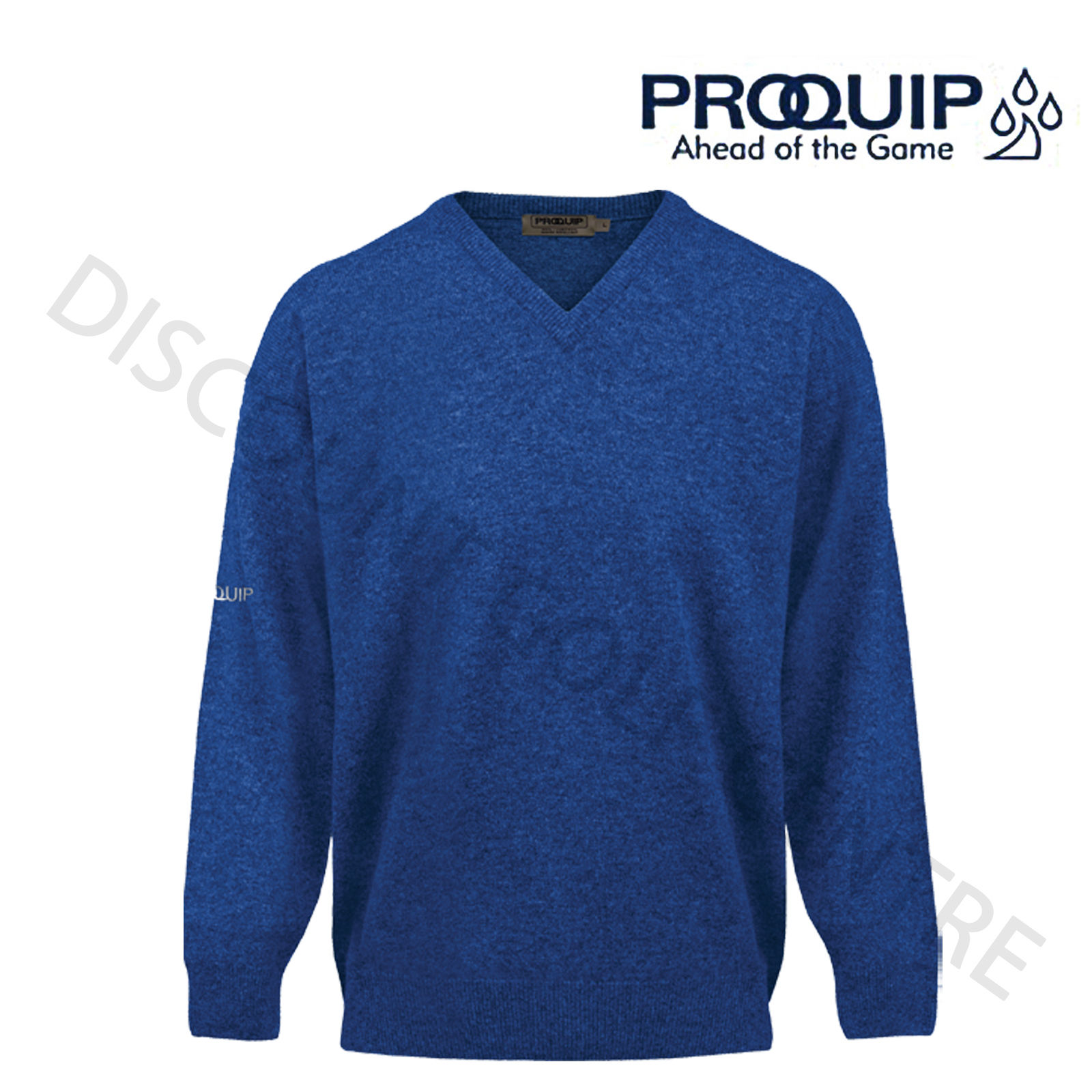 2018 PROQUIP Water Repellent Mens V-Neck Lambswool Sweater Jumper ...