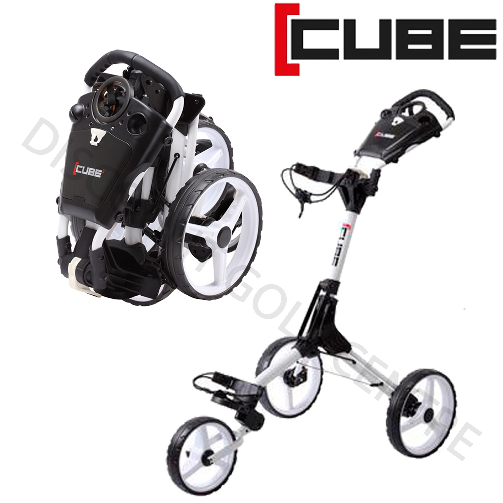 New 2018 Skymax Cube 3 Wheel Compact Push Pull Golf