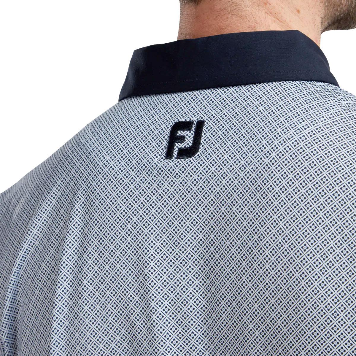 FootJoy Lisle Foulard Print Mens Golf Polo Shirt