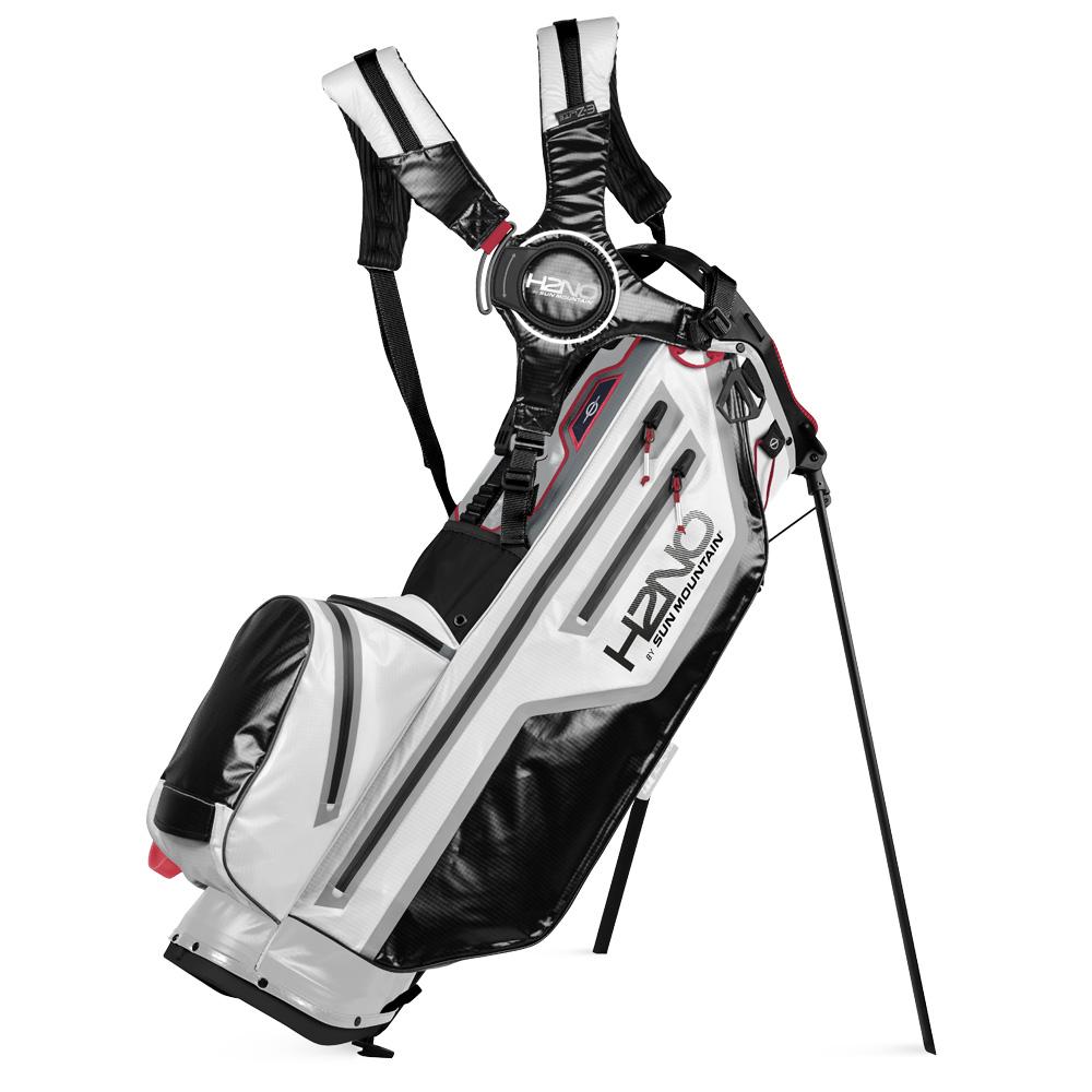 Sun Mountain H2NO Lite Stand Waterproof Golf Bag  - White/Black/Bright Red
