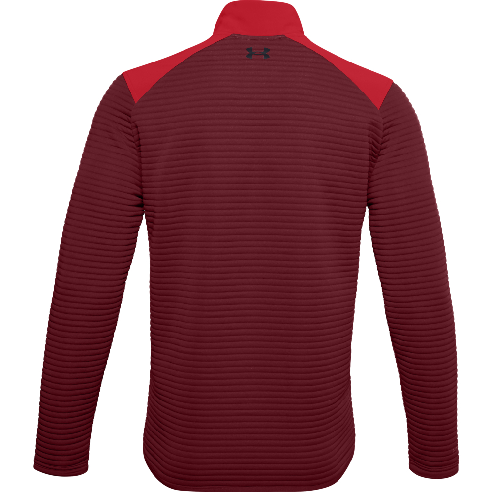 Under Armour Mens UA Storm Evolution Daytona 1/2 Zip Golf Sweater  - Versa Red