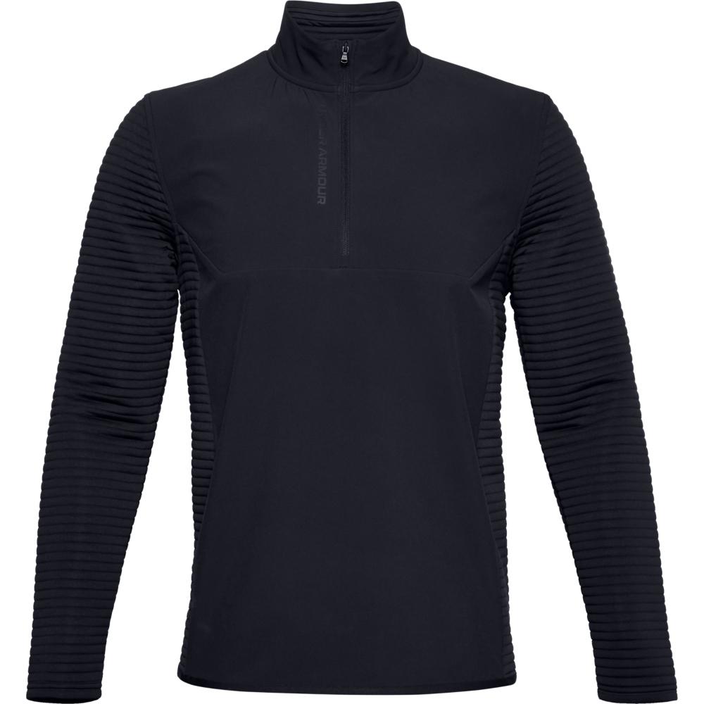 Under Armour Mens UA Storm Evolution Daytona 1/2 Zip Golf Sweater  - Black