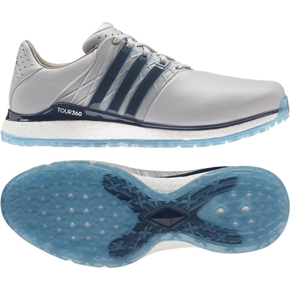 adidas Tour360 XT-SL 2 Mens Spikeless Golf Shoes (Grey Two/Crew Navy/Hazy)