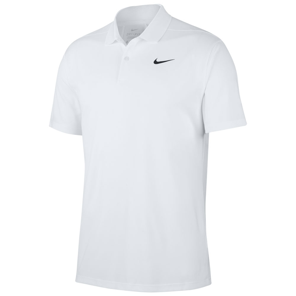 Nike Dry-Fit Victory Solid Golf Polo Shirt  - White
