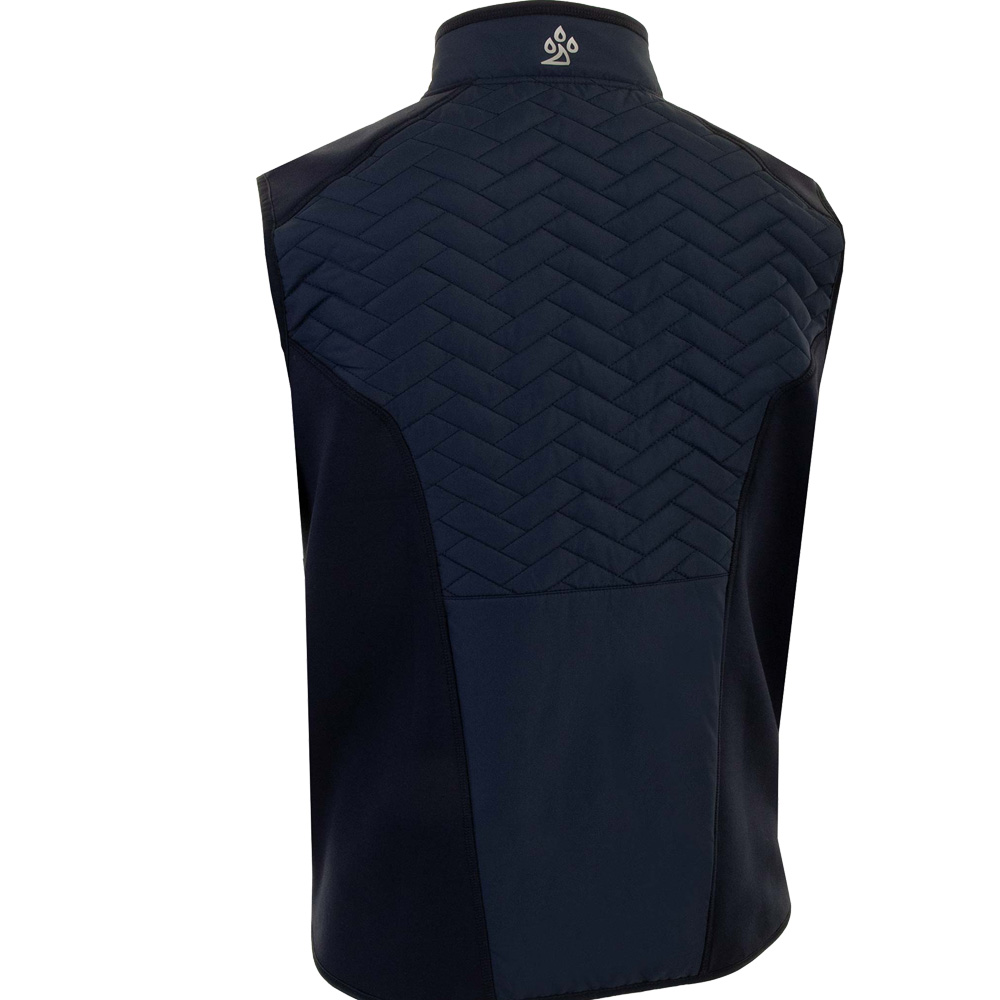ProQuip Mens Gust Therma Quilted Full Zip Golf Gilet  - Navy