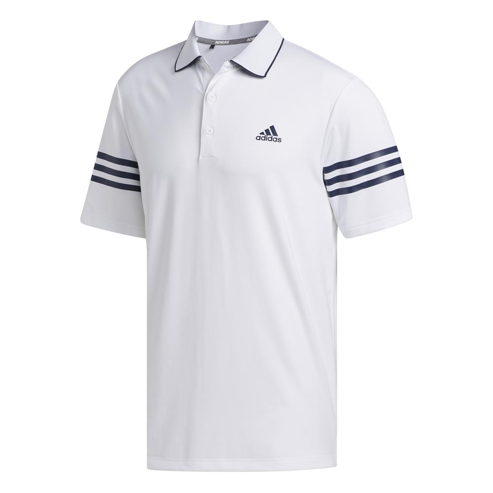 adidas Golf Ultimate365 Blocked Mens Polo Shirt  - White/Collegiate Navy