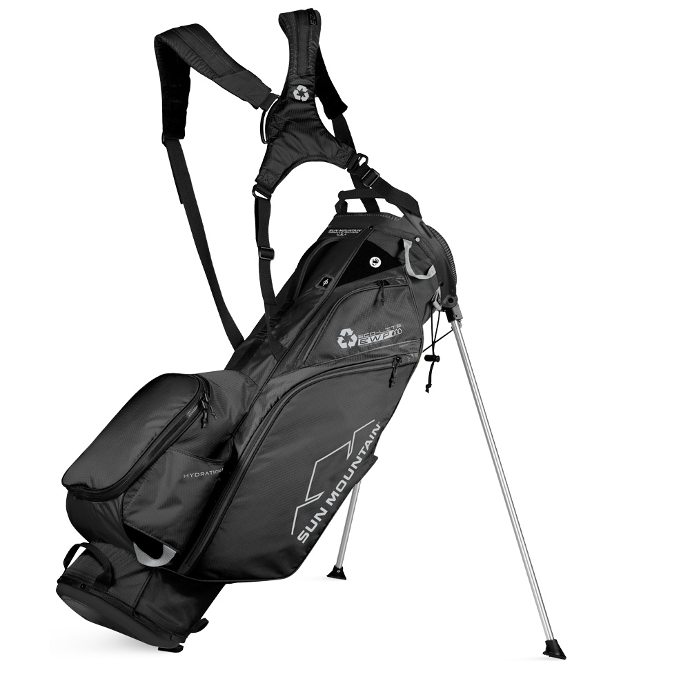 Sun Mountain Eco-lite Stand Golf Bag - made with recycled plastic  - Black