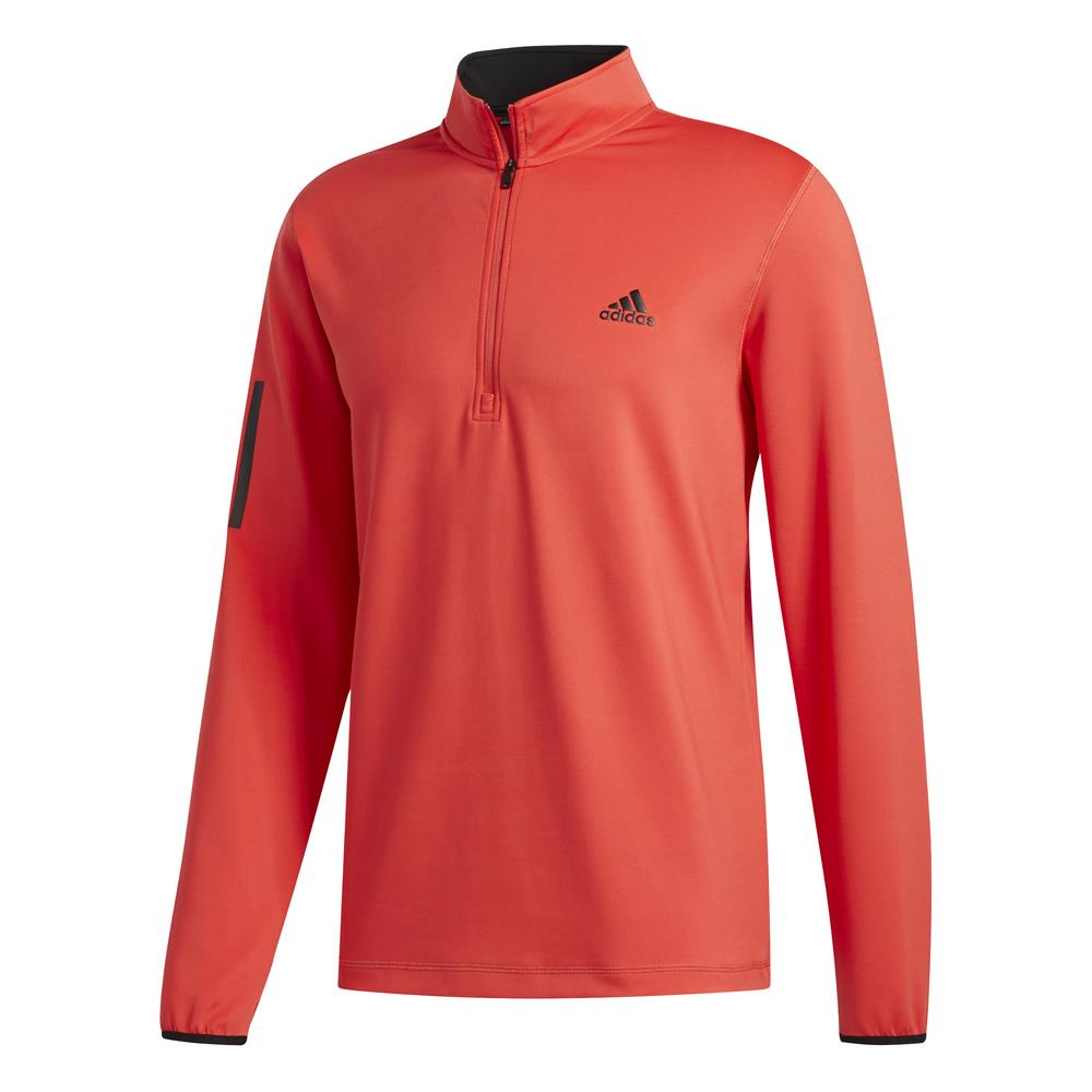 adidas Golf 3-Stripes Mens Midlayer  - Real Coral