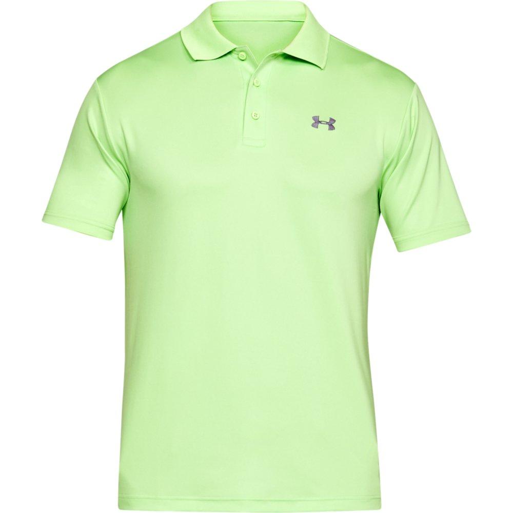 Under armour 2018 mens ua performance 2 0 tour golf sports for Mens lime green polo shirt