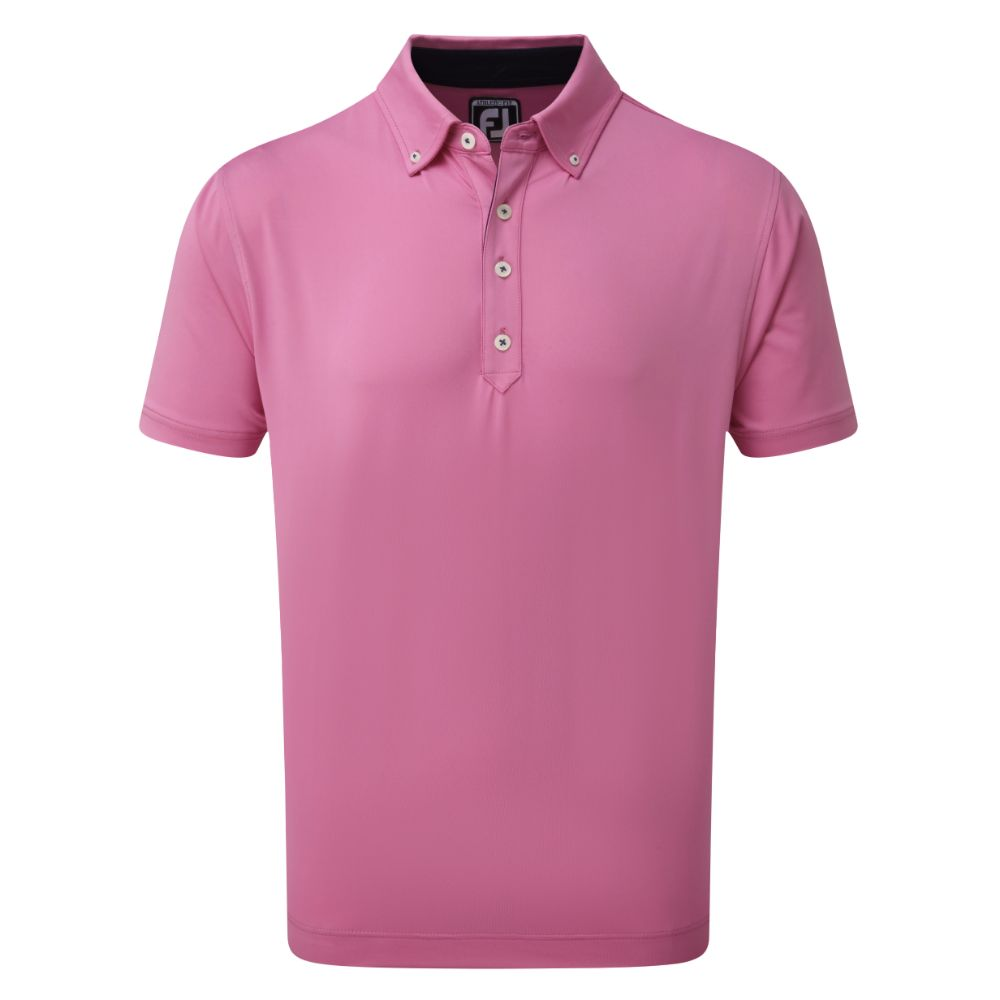 Polo Shirt Pink With Navy Trim