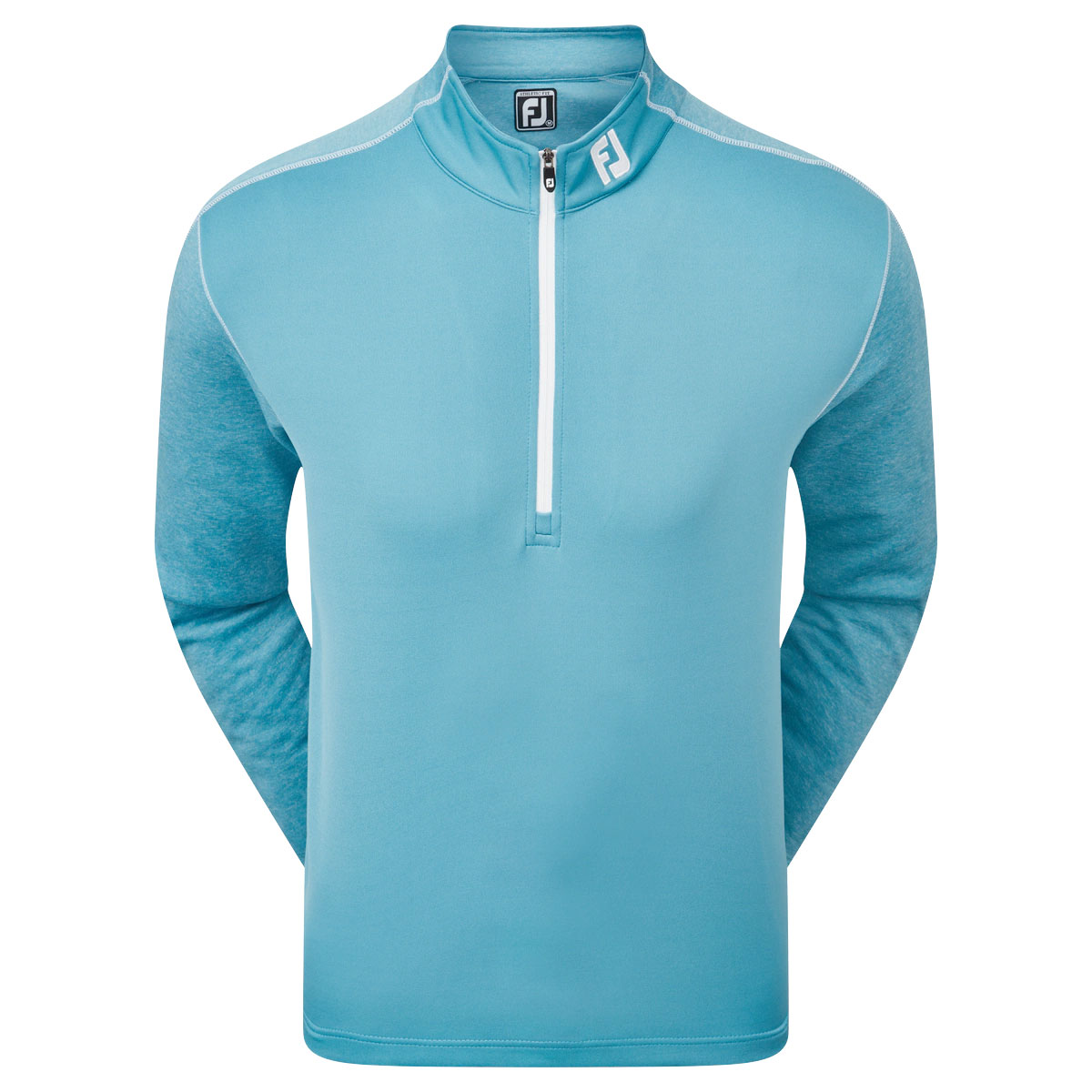 FootJoy Tonal Heather Chill-Out Mens Golf Pullover  - Storm Blue