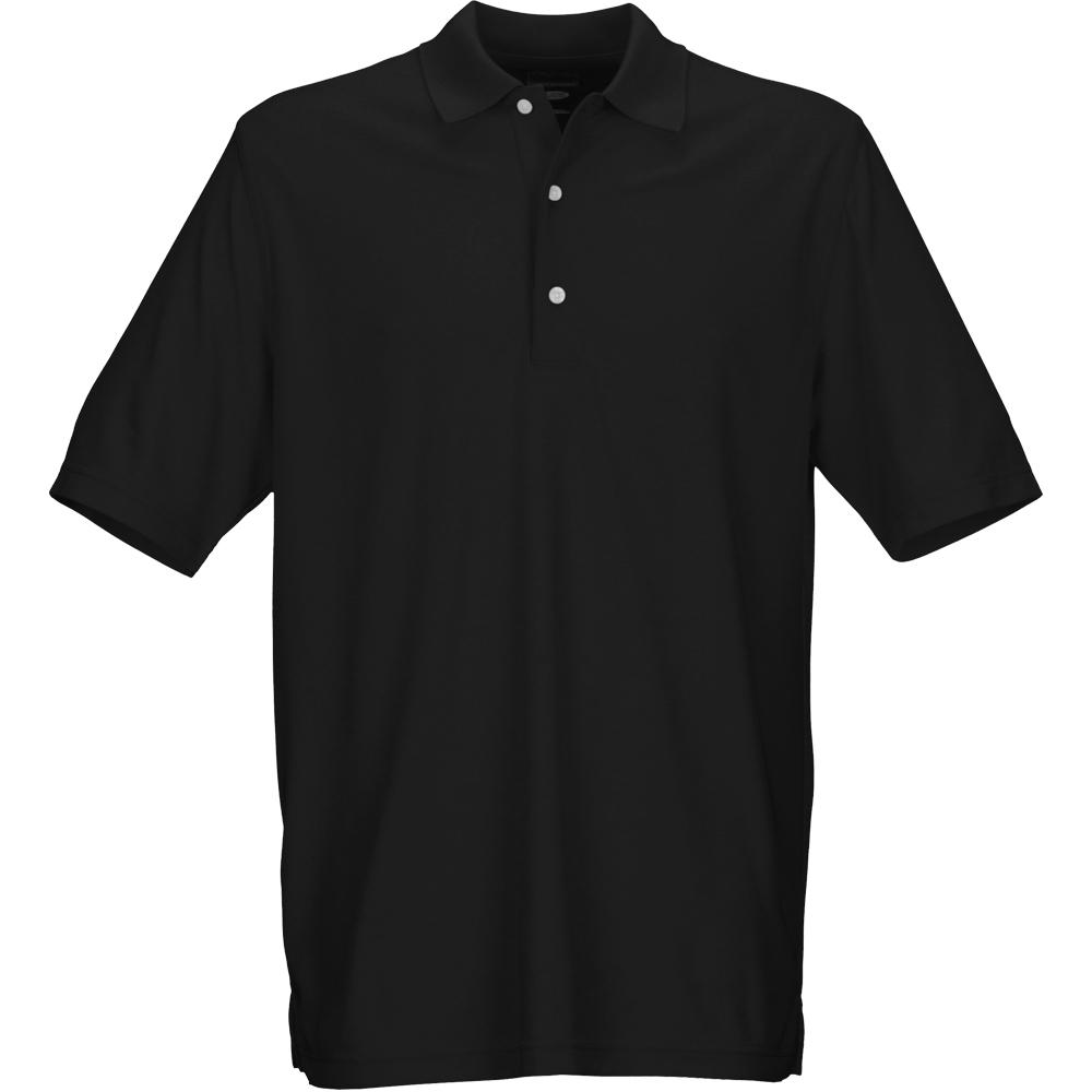 Greg Norman Golf Micro Pique Mens Polo Shirt  - Black