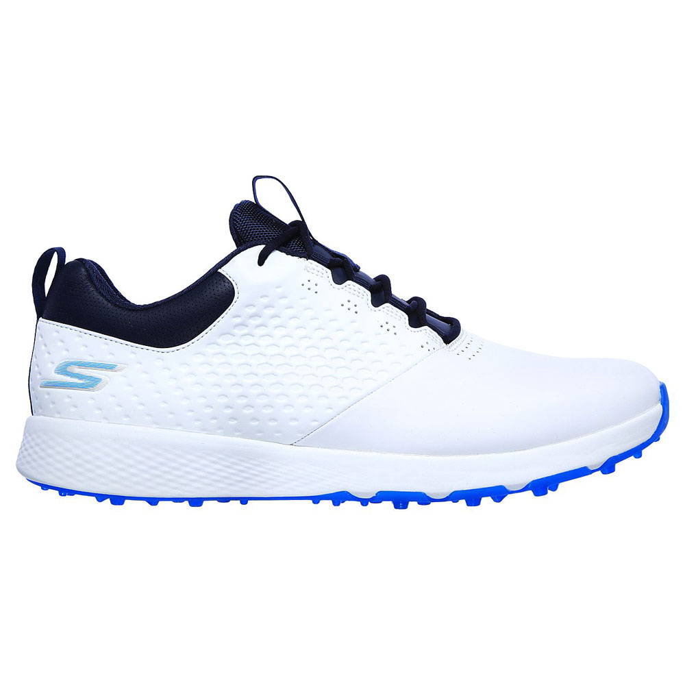 Skechers Go Golf Elite V.4 Mens Spikeless Golf Shoes  - White/Navy