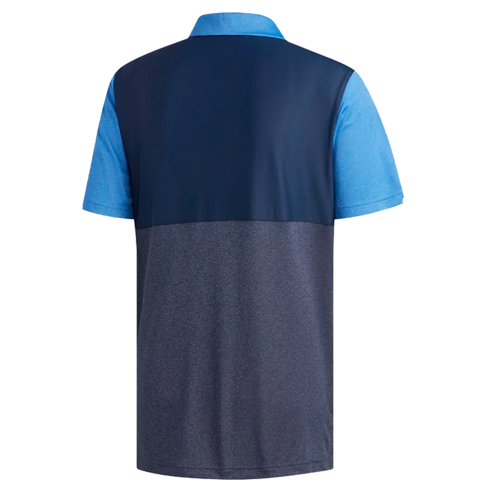 adidas Golf ClimaChill Core Heather Competition Mens Polo Shirt  - True Blue