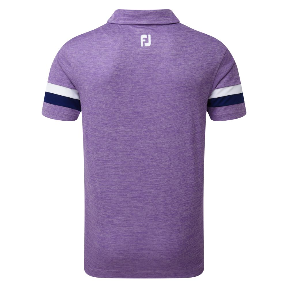 FootJoy Golf Smooth Pique Space Dye Mens Polo Shirt  - Purple/Blue/White