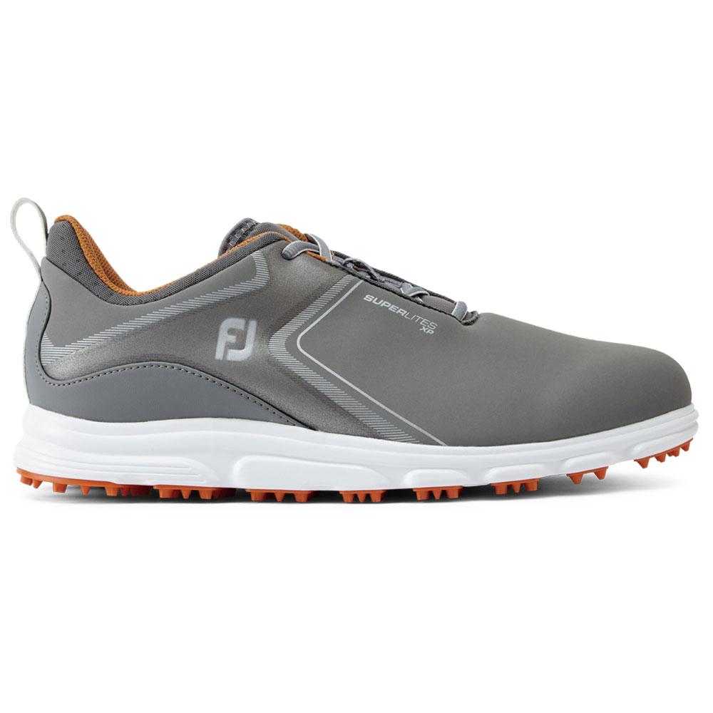 FootJoy SuperLites XP Mens Spikeless Golf Shoes  - Grey/Orange