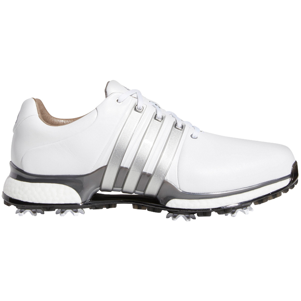 adidas Tour 360 XT Waterproof Mens Golf Shoes - Wide Fit  - White/Silver Metallic