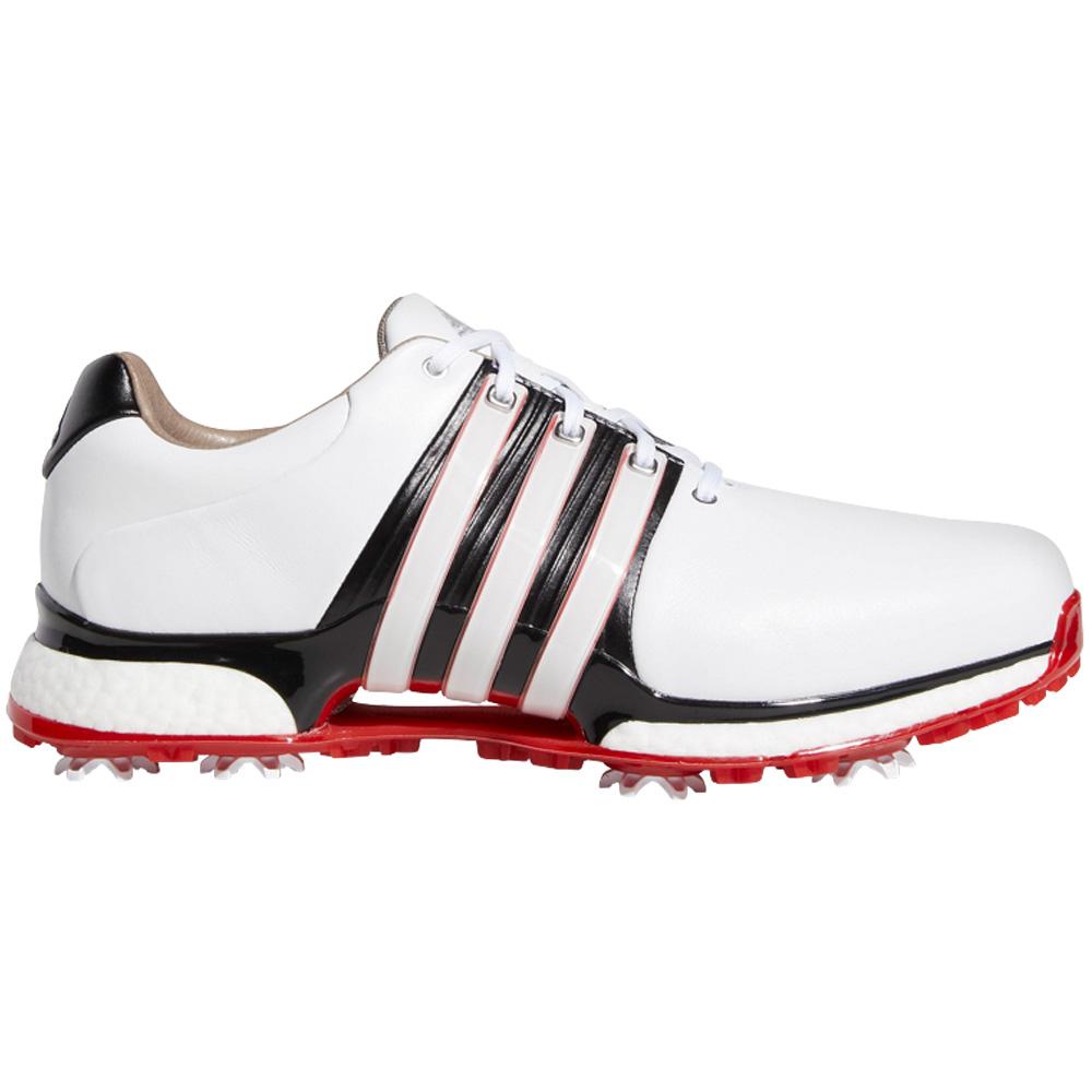 adidas Tour 360 XT Waterproof Mens Golf Shoes - Wide Fit  - White/Core Black/Scarlet