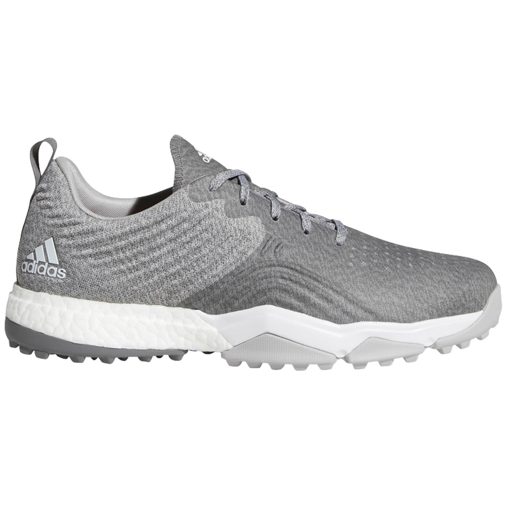 Adidas AdiPower 4ORGED S Water-Repellent Mens Golf Shoes - Wide Fit  - Grey Two/Grey Four