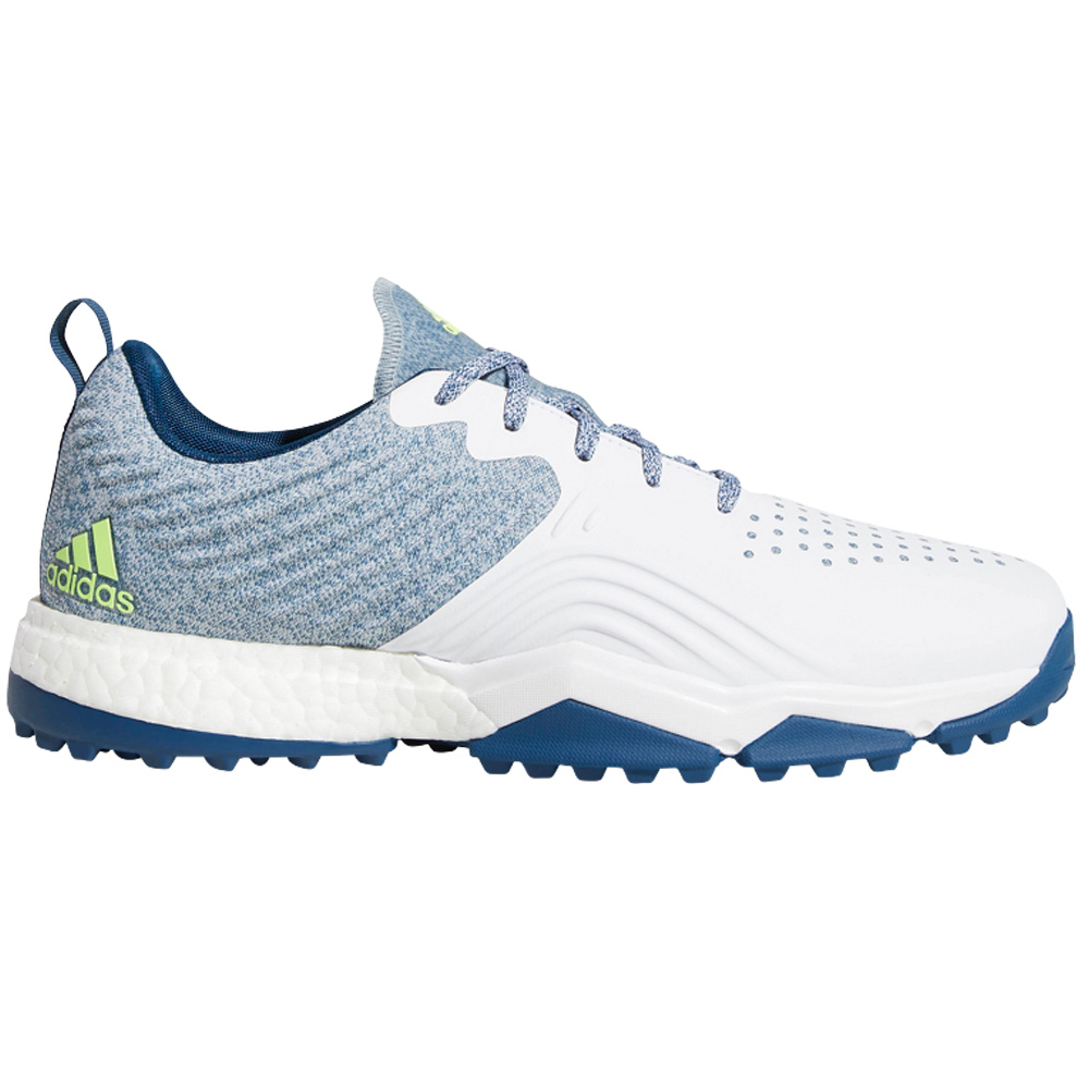 Adidas AdiPower 4ORGED S Water-Repellent Mens Golf Shoes - Wide Fit  - White/Collegiate Navy