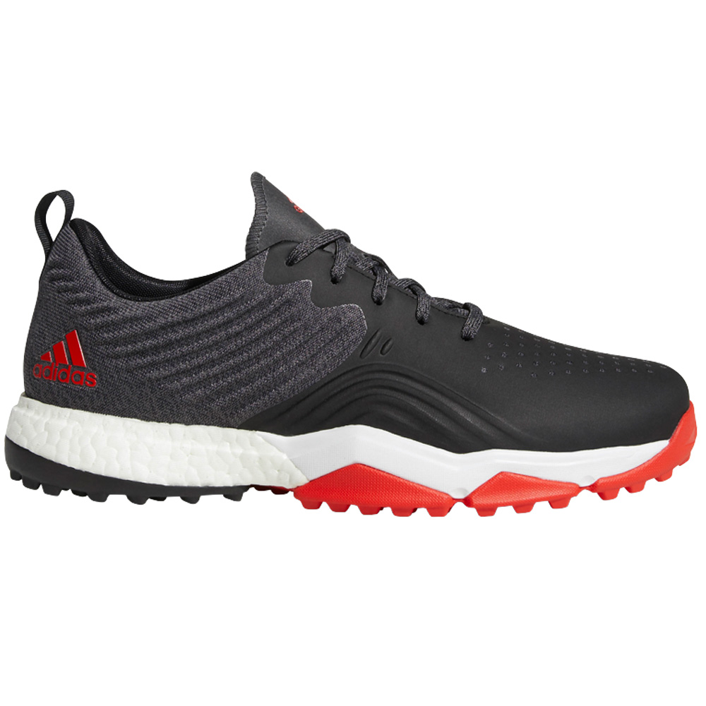 Adidas AdiPower 4ORGED S Water-Repellent Mens Golf Shoes - Wide Fit  - Core Black/Red