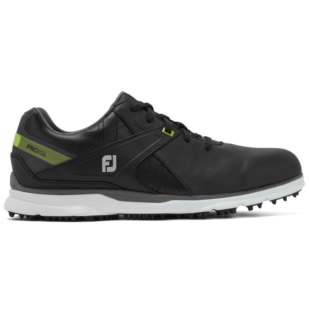 FootJoy PRO SL Mens Spikeless Golf Shoes  - Black/Lime