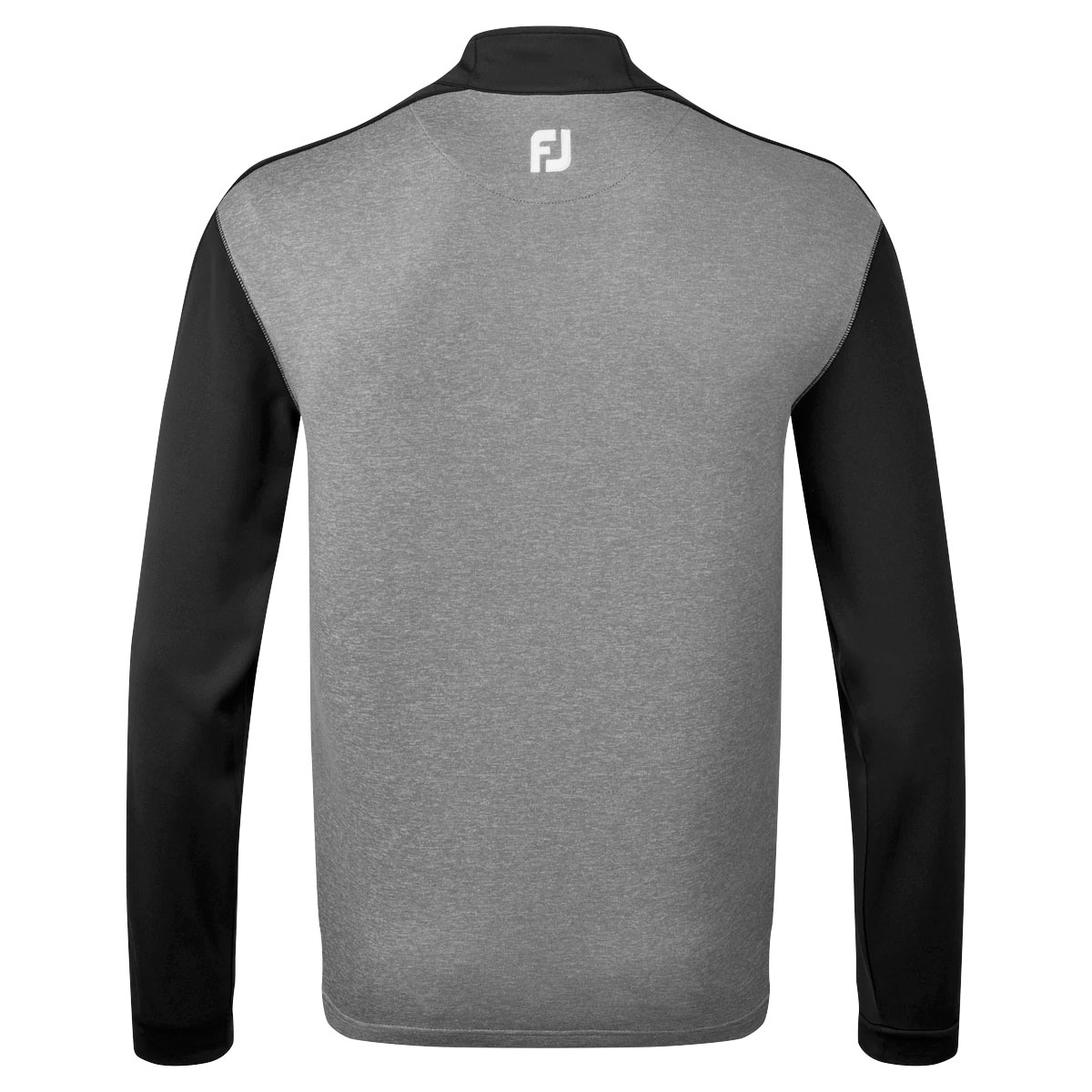 FootJoy Heather Colour Block Chill-Out Mens Golf Pullover  - Black/Heather Coal