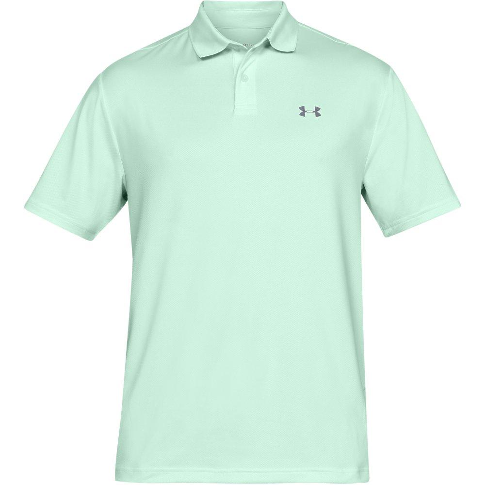 Under Armour Performance 2.0 Mens Golf Polo Shirt (Aqua Foam)