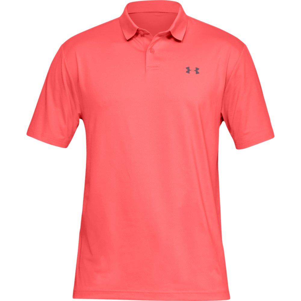 Under Armour Performance 2.0 Mens Golf Polo Shirt  - Blitz Red