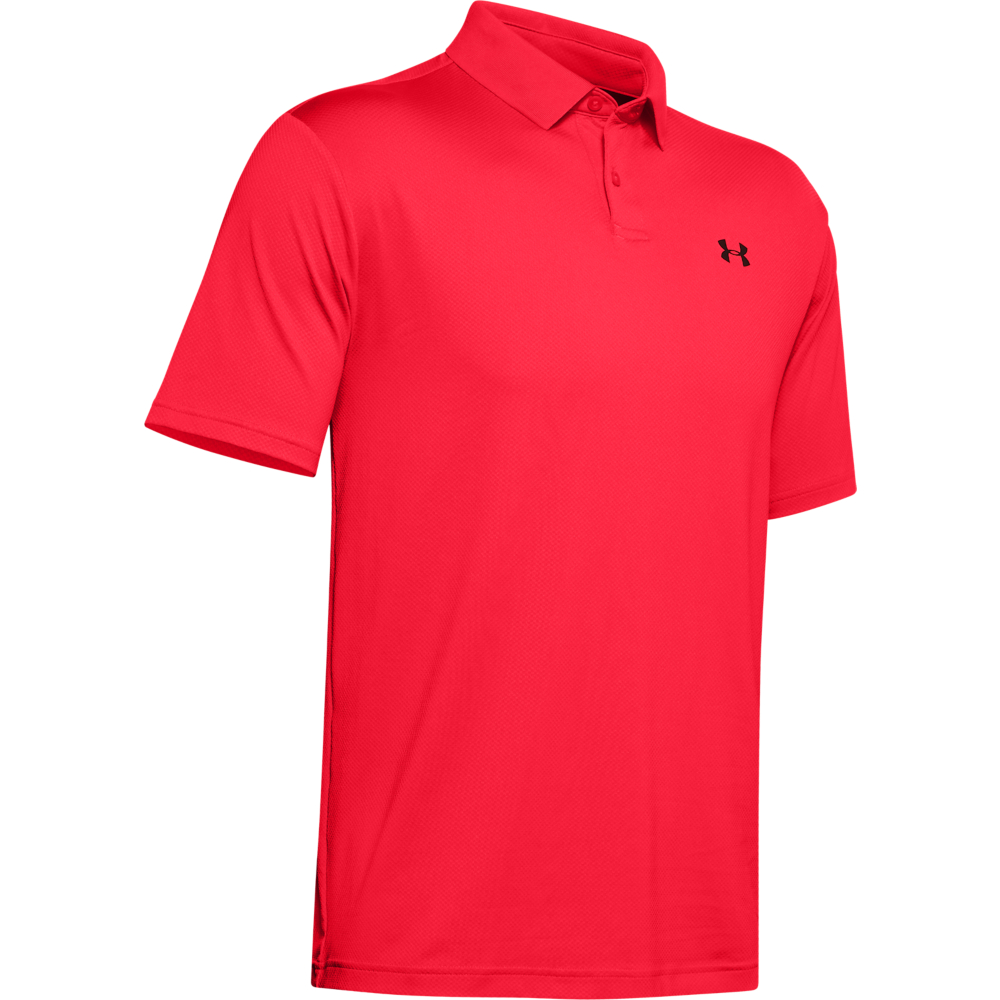 Under Armour Performance 2.0 Mens Golf Polo Shirt  - Beta Red