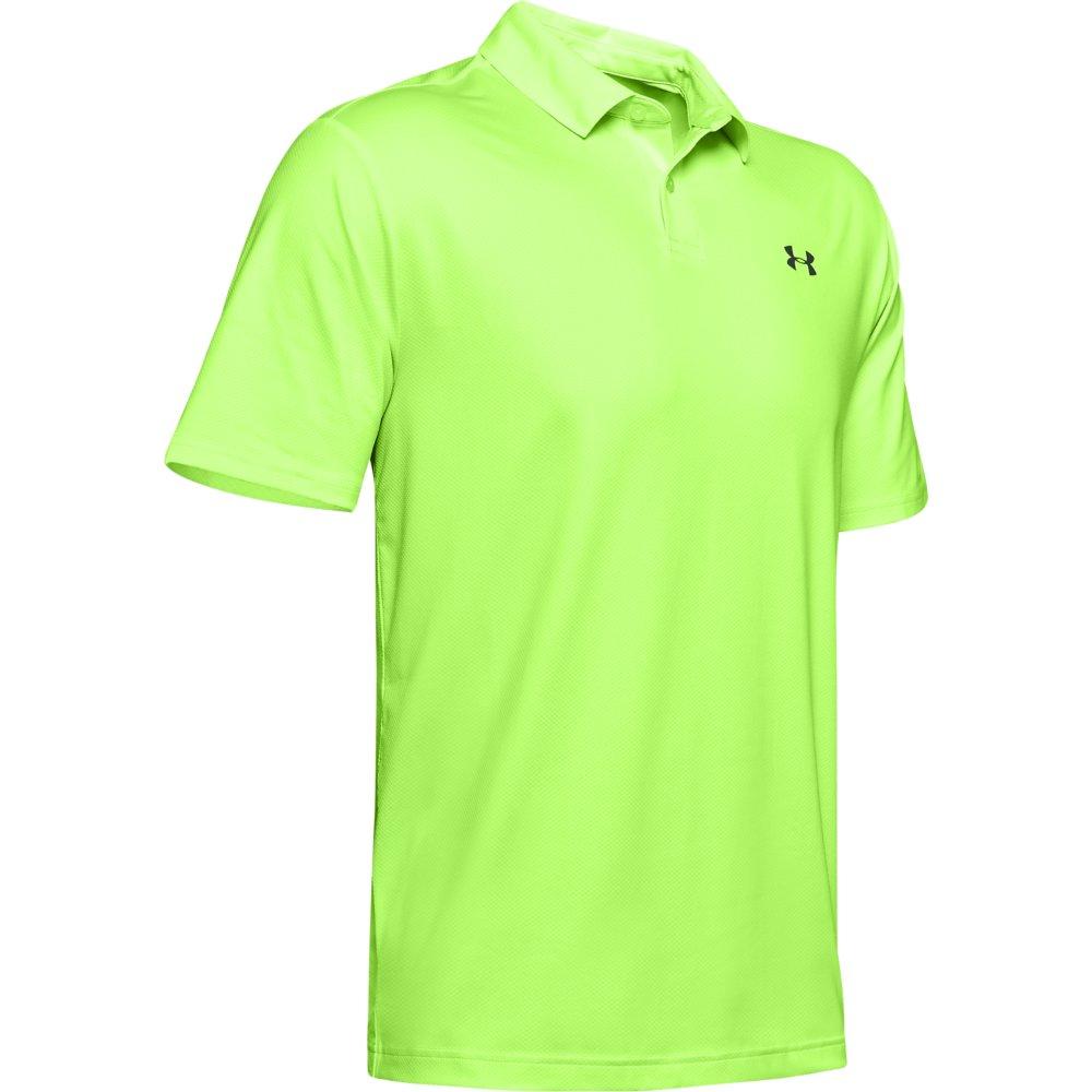 Under Armour Performance 2.0 Mens Golf Polo Shirt (Lime Light)