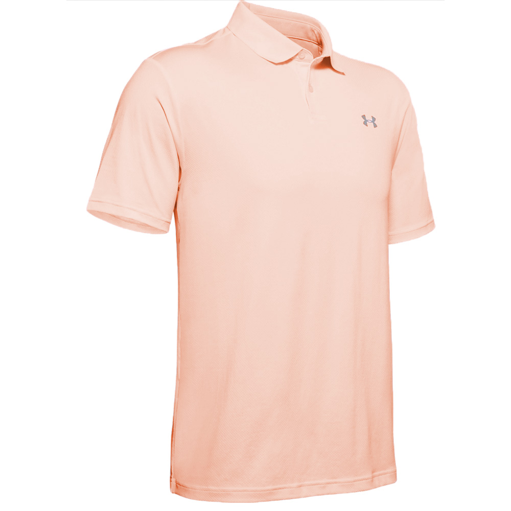 Under Armour Performance 2.0 Mens Golf Polo Shirt  - Peach Frost