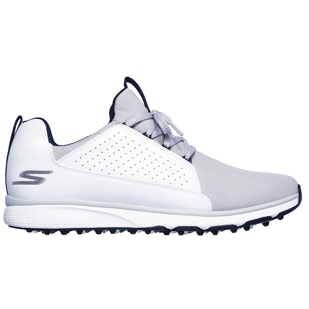 Skechers Go Golf Mojo Elite Mens Spikeless Golf Shoes  - White/Grey