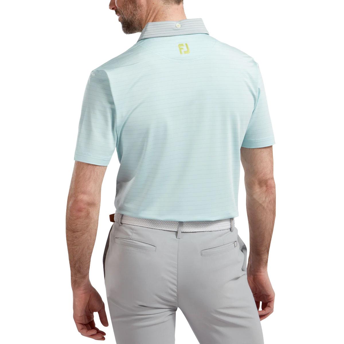 FootJoy Lisle Pinstripe Mix Mens Golf Polo Shirt