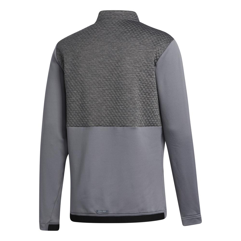 adidas Golf Mens COLD.RDY Quarter Zip Pullover  - Grey Three
