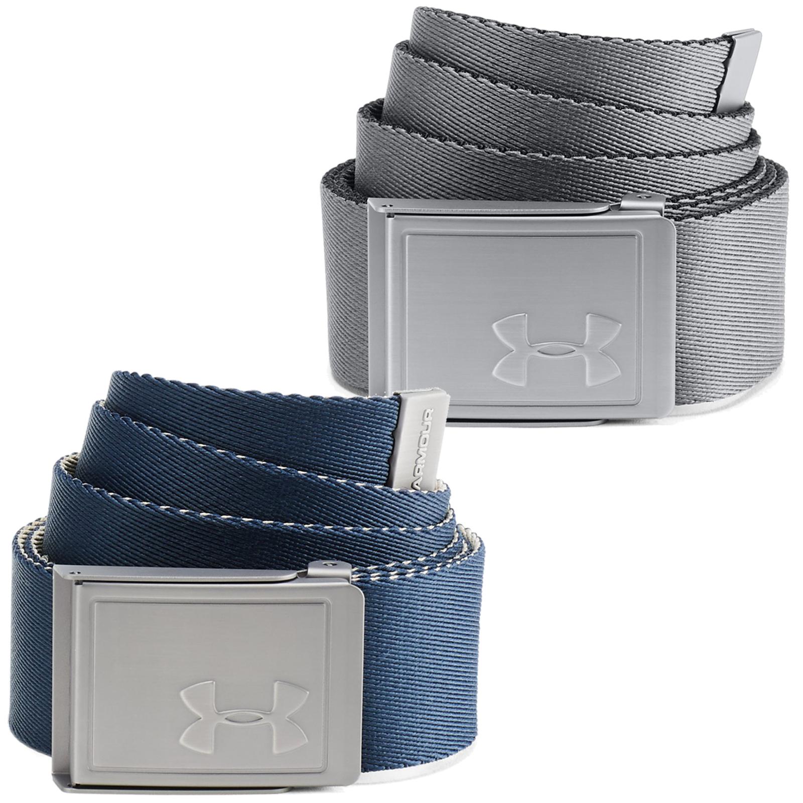 Under Armour Golf Reversible Webbing 2.0 Mens Belt  - Zinc Grey